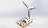新能源电子积木实验玩具diy科学物理电学少儿逻辑 风能发电实验