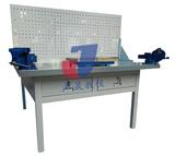 JS-QG1型熱銷款單面豪華鉗工實訓臺(兩工位) 兩工位鉗工臺 兩工位鉗工桌