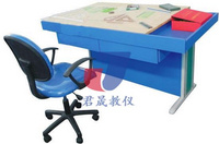 繪圖桌 制圖桌 君晟JS-Z0型熱銷款鋼木結構0號繪圖桌 工程繪圖桌 建筑制圖桌 教師桌 拆裝桌