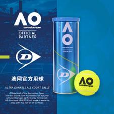 登路普【DUNLOP】601353网球邓禄普登路普ATP澳网铁罐比赛训练用球  单罐3颗