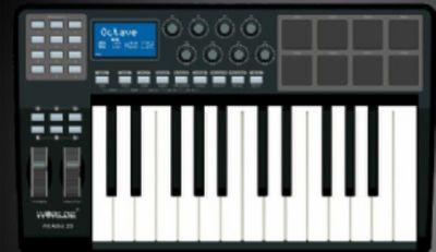 worlde沃尔特 25键MIDI键盘控制器