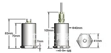 智能型一体化压电式速度变送器