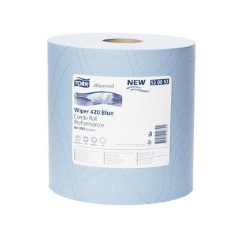 爱生雅W1/W2高级擦拭纸布440蓝色纸卷