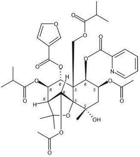 1β-Picolinoyloxy-2β,6α-diacetoxy-8β,13-diisobutanoyloxy-9α-furanoyloxy-4α-hydroxy-β-dihydroagarofuran 1403757-09-4