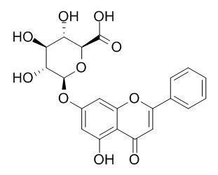 白杨素-7-葡萄糖醛酸苷,白杨素-7-葡萄糖醛酸苷标准品对照品