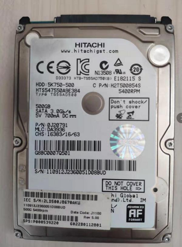 硬盘上电无反应数据恢复成功