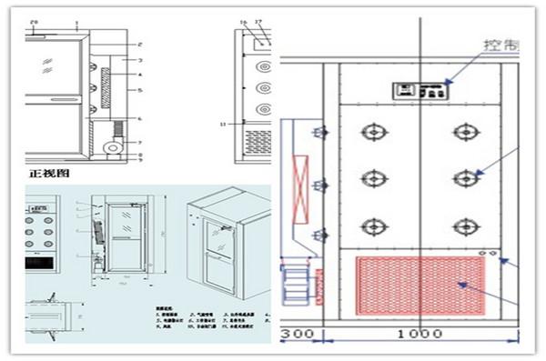 风淋室如何组装及接线方法             上海苏净