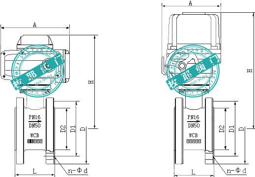 电动对夹式球阀Q971F