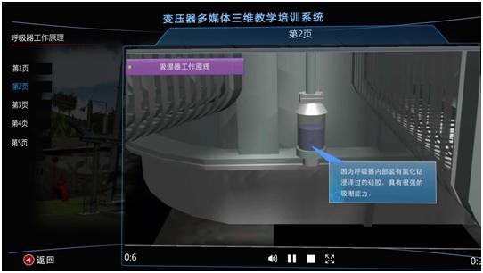 变压器多媒体三维仿真教学实训培训系统,变电三维仿真
