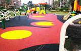 南宁幼儿园活动区橡胶地面EPDM图案设计施工