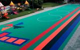 劲踏室外幼儿园悬浮地板室外篮球场悬浮式拼装地板绿色环保