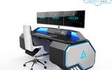 巧夺天工科技 三屏数据分析工作站 ED-SP9212 应急指挥中心全金属科技感控制台
