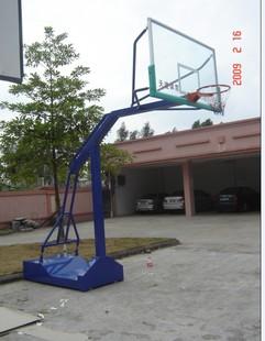 供应移动透明玻璃内箱式带轮篮球架