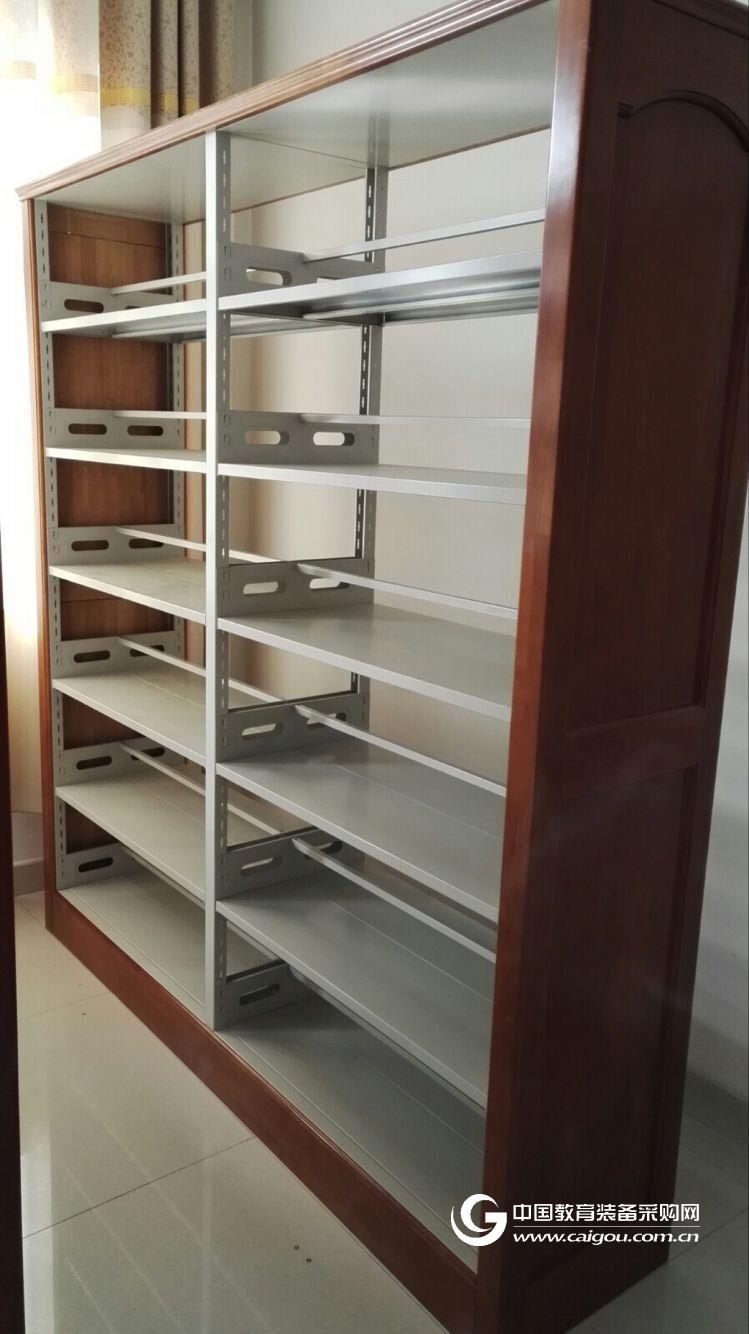 厂家直销 双面钢制书架 家用黄木纹转印书架