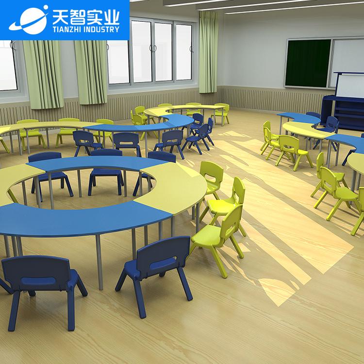 42位通用教室(幼兒園弧形桌)