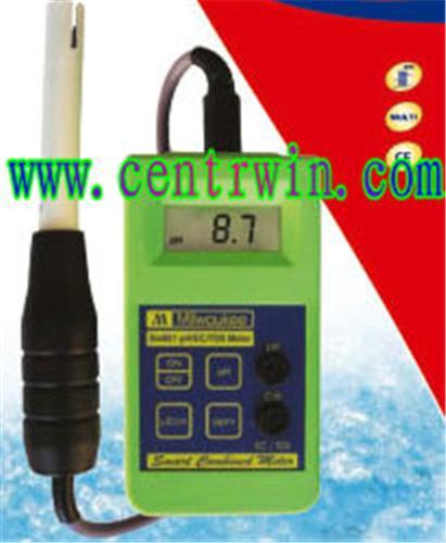 便携式PH/EC/TDS三合一测试仪 型号:MTYK-SM801