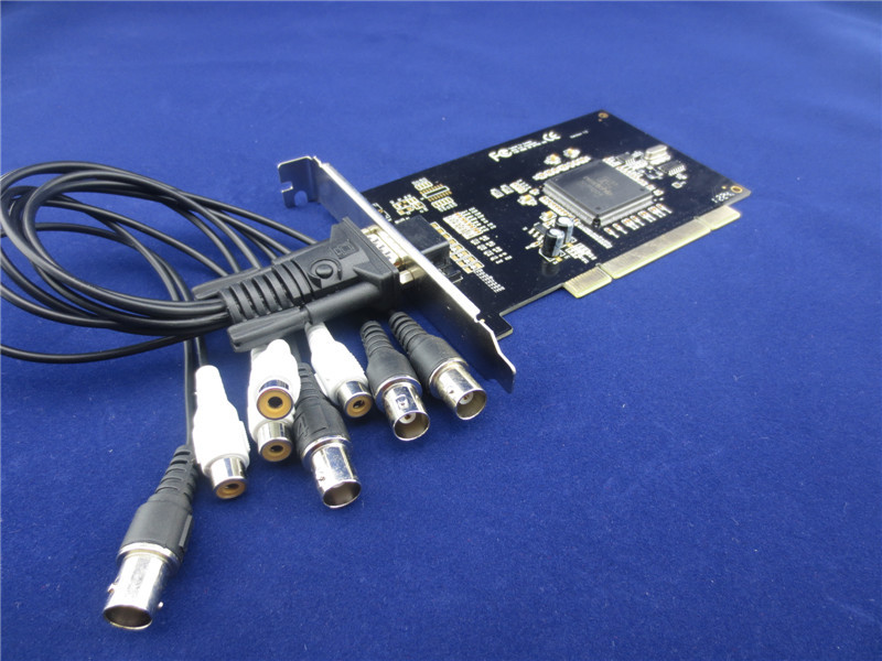 众禾时代 HV6408SC 8路采集卡 8路监控卡 手机远程